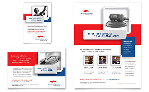 Justice Legal Services - Flyer & Ad Template