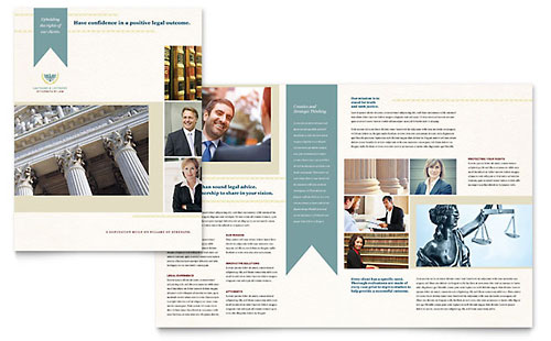 Professional services brochures templates designs for Legal brochure template