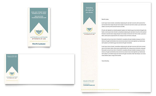 Law Firm Letterhead Template Design
