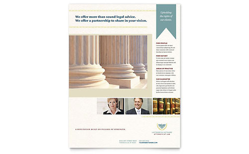 Law Firm - Sample Flyer Template