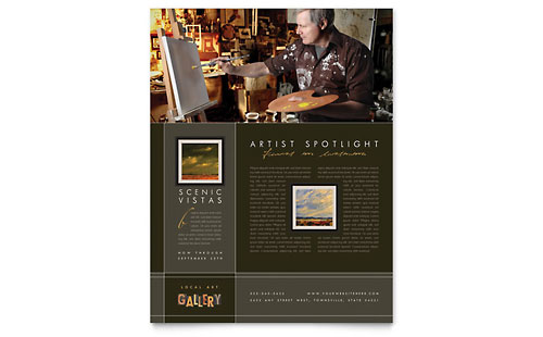 Art Gallery & Artist Flyer Template