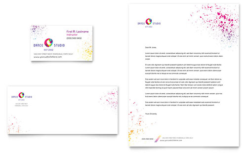 Dance Studio - Business Card & Letterhead Template