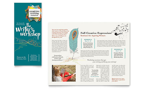 Writer's Workshop Brochure Template