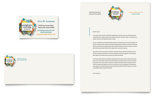 Writer's Workshop Business Card & Letterhead Template