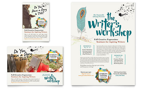Writer's Workshop Flyer & Ad Template
