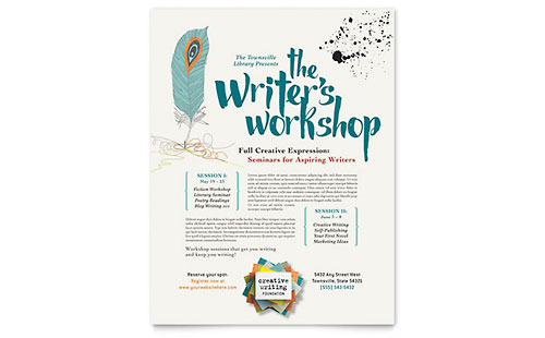 Writer's Workshop Flyer Template