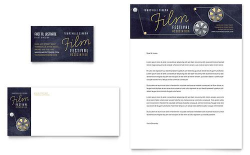 Film Festival Business Card & Letterhead Template