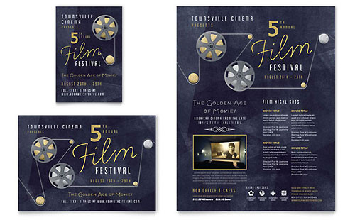 Film Festival Flyer & Ad Template