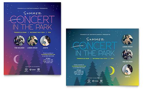 Summer Concert Poster Template