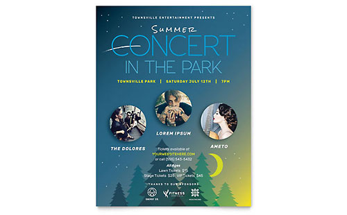 Summer Concert - Sample Flyer Template
