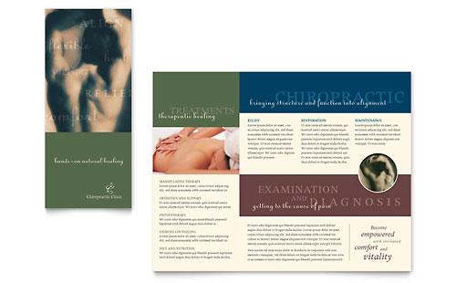 Chiropractor Brochure Template