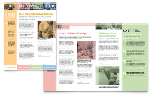 Family Doctor Newsletter Template