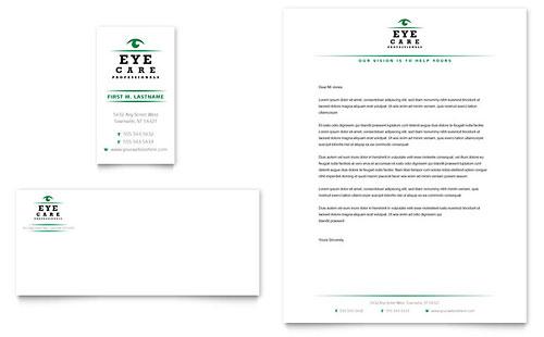 Optometrist & Optician Business Card & Letterhead Template