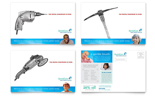 Dental Care Postcard Template