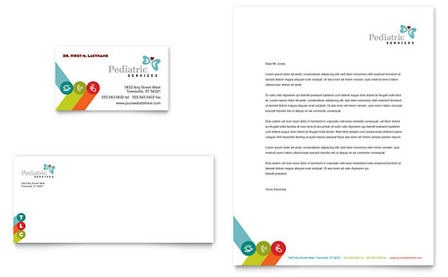 Pediatrician & Child Care - Business Card & Letterhead Template