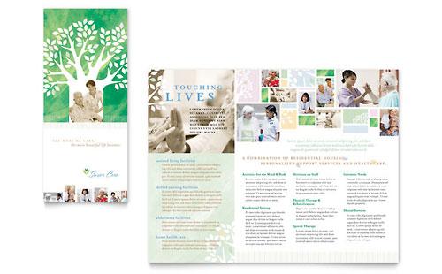 Elder Care & Nursing Home Brochure Template