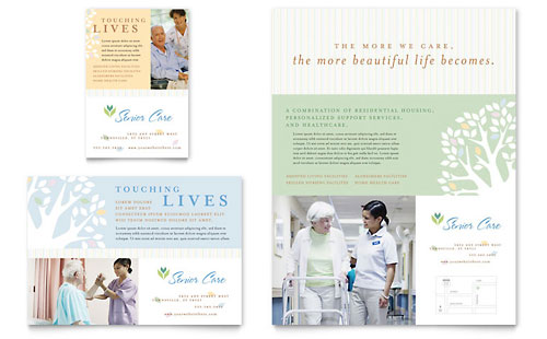 Elder Care & Nursing Home Flyer & Ad Template