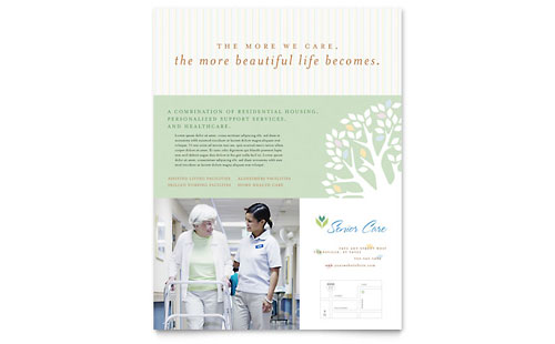 Elder Care & Nursing Home Flyer Template