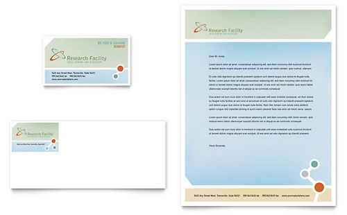 Medical Research Business Card & Letterhead Template