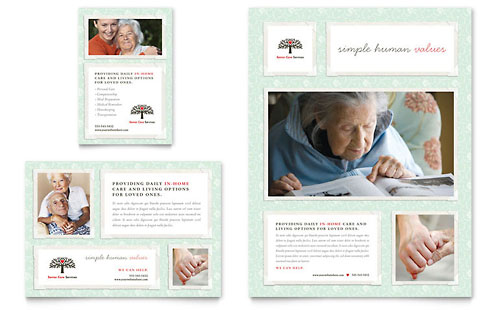 Senior Care Services Flyer & Ad Template