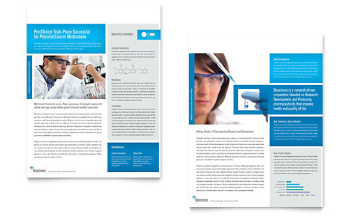 Science & Chemistry Datasheet Template