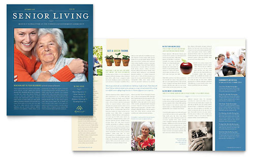 Senior Living Community Newsletter Template