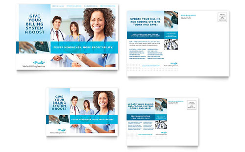Medical Billing & Coding Postcard Template