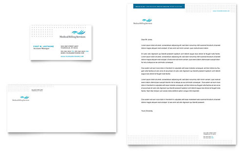 Medical Billing & Coding Business Card & Letterhead Template