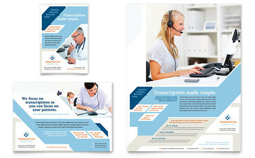 Medical Transcription Flyer & Ad Template