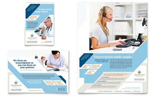 Medical Transcription Flyer & Ad Template