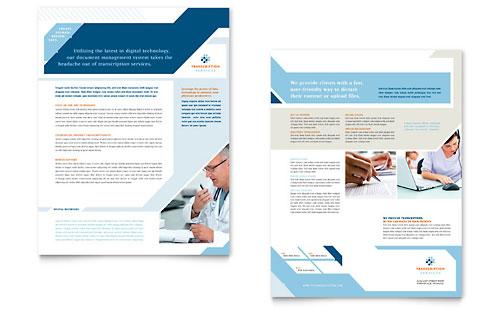 Medical Transcription Datasheet Template