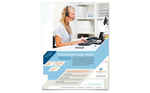 Medical Transcription Flyer Template