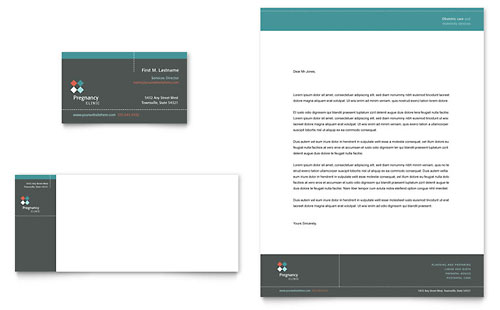 Pregnancy Clinic Business Card & Letterhead Template