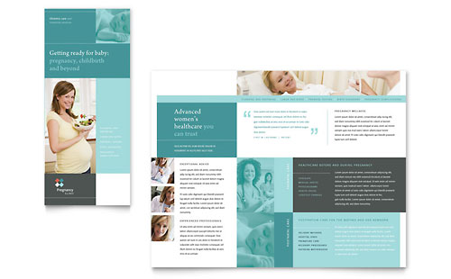 Pregnancy Clinic Tri Fold Brochure Template
