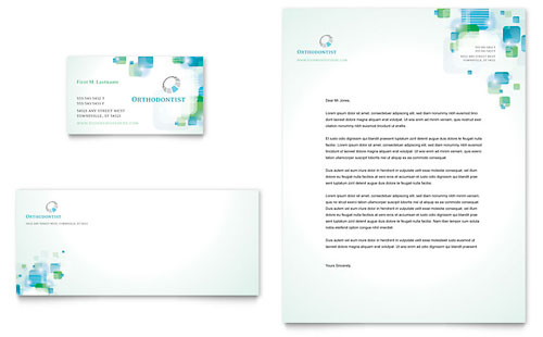 Orthodontist Business Card & Letterhead Template