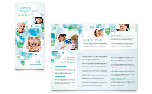 Orthodontist Tri Fold Brochure Template