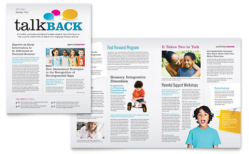 Speech Therapy Education - Newsletter Template