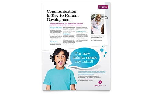 Speech Therapy Education - Flyer Template