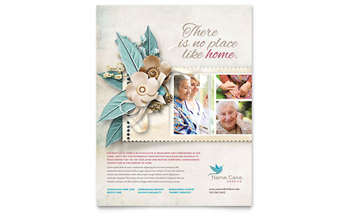 Hospice & Home Care Flyer Template