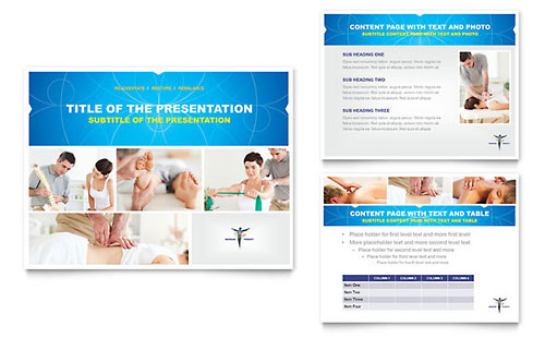 Reflexology & Massage PowerPoint Presentation Template
