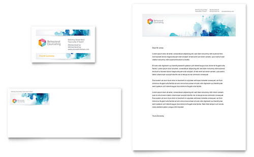 Behavioral Counseling Business Card & Letterhead Template