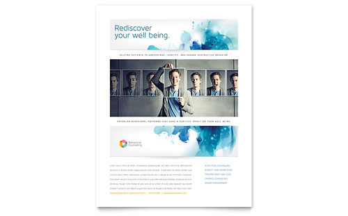 Behavioral Counseling Flyer Template