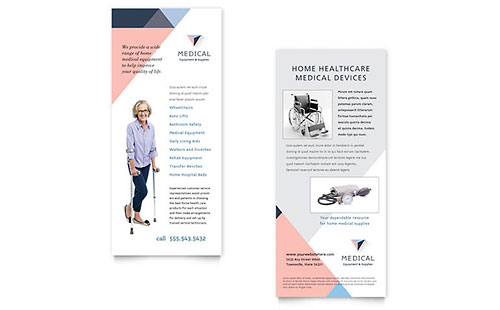 Home Medical Equipment Rack Card Template