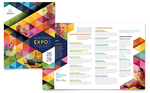 Health Fair Brochure Template