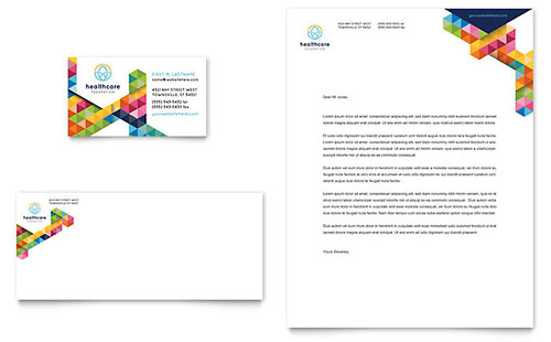 Health Fair Business Card & Letterhead Template
