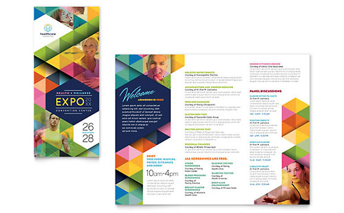 Health Fair Tri Fold Brochure Template