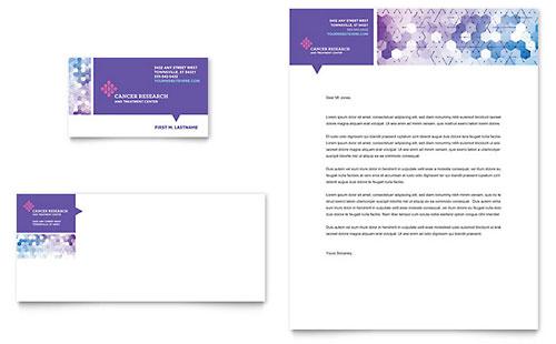 Cancer Treatment - Business Card & Letterhead Template
