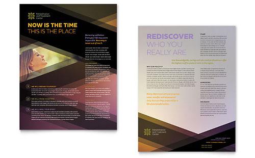 Rehab Center Sales Sheet Template