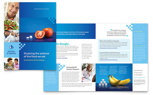 Dietitian - Microsoft Publisher Brochure Template