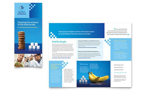 Dietitian Tri Fold Brochure Template